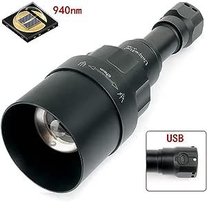 50 mm lente convessa da utilizzare con visione notturna Dispositivo Uniquefire New Style UF1605 IR 940 nm visione notturna a infrarossi luce torcia zoom regolabile max distanza fascio 150M torcia
