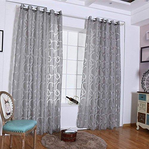 Sunwords Modern Wohnzimmer Schlafzimmer-Vorhänge, Tier-Schürze Heimdekoration, Polyester, grau, 39.37