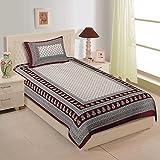 #9: Shop Jaipuri Cotton Rajasthani Single Bedsheet With 1 Pillow Cover