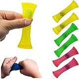 Yeyll Sensory Fidget speelgoedset, 6 stuks gevlochten gaasbuisjes en k voor kinderen, creatieve anti-stress spelletjes voor k