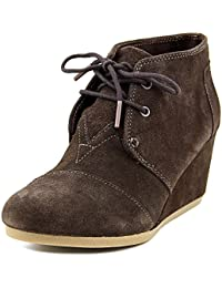 Toms Women's Desert Wedge Suede Chocolate Brown Ankle-High Suede Pump - 8M