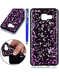 Coque pour Samsung Galaxy A5 2016,Samsung Galaxy A5 2016 Silicone Housse Etui,EUWLY Ultra Mince Paillette TPU Silicone Slim Housse Etui Case Soft Gel Cover Skin Homme Femme Fille Opaque Silicone Soft TPU Silicium Étui Housse Coque Pour Samsung Galaxy A5 2016 Ultra Slim Flexible Soft Gel Protective Case TPU Doux Housse Etui de Protection Coque Coquille Caoutchouc Bumper Résistant aux Rayures Anti Choc Protecteur Cas Couverture pour Samsung Galaxy A5 2016 + 1 x Stylo - Violet