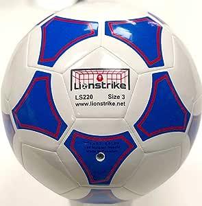 Lionstrike Ballon de foot léger en cuir Taille 3 Blanc