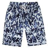 OSYARD Herren Shorts Badehose Quick Dry Beach Surfen Laufen Schwimmen Wasserhosen(3XL, Weiß)