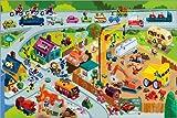 Poster 90 x 60 cm: Auto Wimmelbild mit Kran von Stephan Lomp - Hochwertiger Kunstdruck, Kunstposter