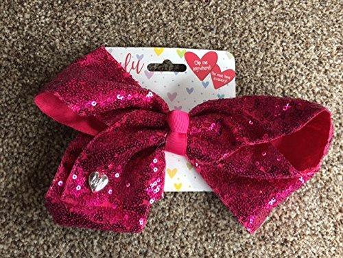Lulu Oversize Haar Schleife großen Fashion mit Alligator Clip–Pink Sequenz