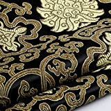 Youmu, Brokatstoff mit chinesischer Blumen-Stickerei,