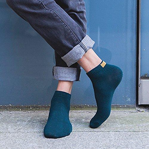 ZHFC-calzini da uomo calzini calzini quattro adulti personalita 'deodorante sudore basso corto tubicino basket calzini 5 colori,fare un mix