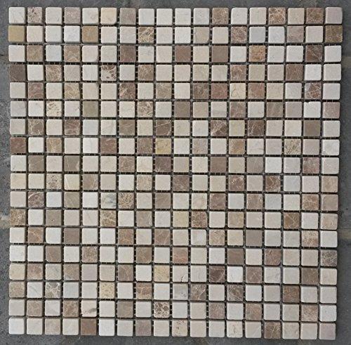 Mosaik Matte 30x30 cm Naturstein Fliesen Emperador Light Crema Marfil Beige M521 -