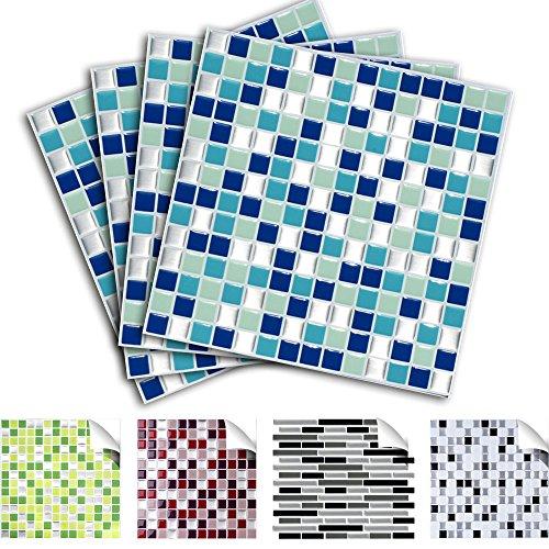4 piezas set 25,3 x 25,3 cm etiqueta adhesiva baldosas