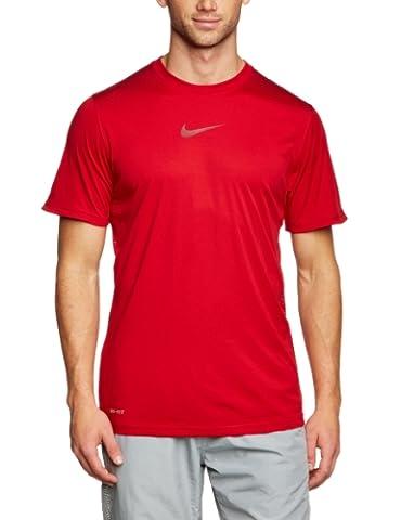 NIKE Herren kurzärmliges Shirt Speed Legend Graphic, Gym/Team Red, XL, 543440-652