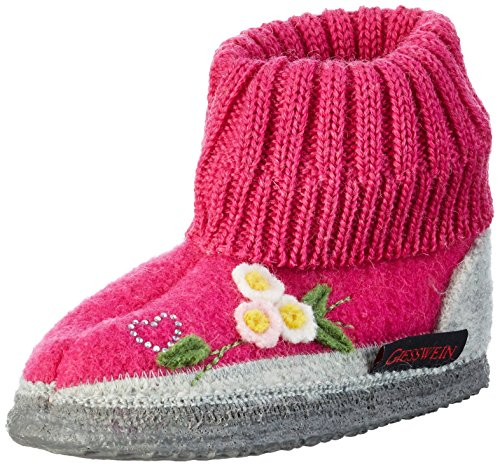 Giesswein Koberg, Chaussons fille Rose - Pink (364 himbeer)