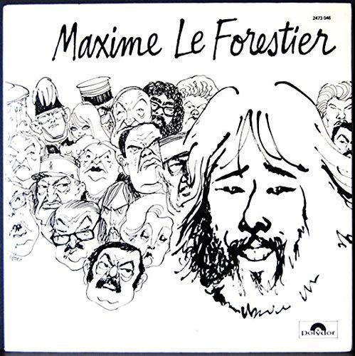 Polydor 2473046 - Maxime Le Forestier : Saltimbanque, Voyage au Moyen Age, L'Irresponsable, La Poupée, Caricature, Petit Robot, La Vie d'un Homme, Les Lettres, Notre Vie en Rose, L'Auto-Stop. - Disque vinyle LP 33 tours (et non CD).