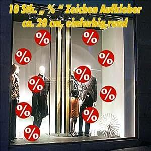 10 zeichen aufkleber prozente aufkleber werbung schaufenster sale beschriftung pegatina. Black Bedroom Furniture Sets. Home Design Ideas