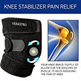 Verastro Knee Brace Pads Compression Sleeve Support for Running, Hiking, Basketball, Tennis, Soccer, Sports, Outdoor activities, Athletic and the Best Brace Knee Pain Relief Protector Wrap