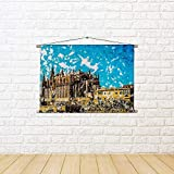ArtzFolio Cathedral of Palma De Mallorca, Spain D3 Canvas Painting Tapestry Scroll Art Hanging 12 X 8Inch