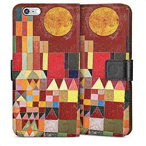 Apple iPhone 4 Housse Étui Silicone Coque Protection Paul Klee Château et soleil Art Sideflip Sac
