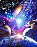 YEESAM ART nouveau Diamant Peinture pleine Foret 5d Kits–Universe Planet 25*30cm–DIY Cristaux Diamant De Strass Peinture Collez-le Peinture par numéro Kits point de croix à broder