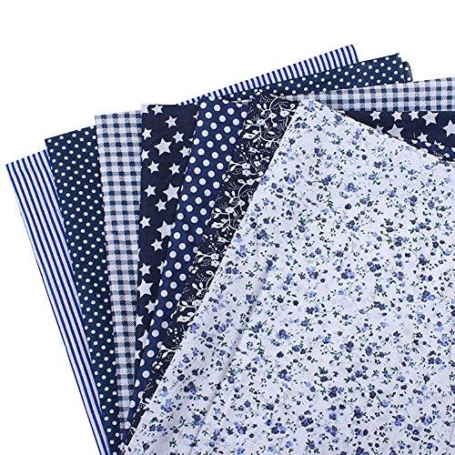 k Baumwollstoff Nähen einfarbig Stoff Floral Patchwork für DIY Quilting Taschen Taschentücher Kunst Handwerk (25 x 25 cm) ()
