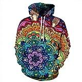 Unisex Paare böhmischen Stil mit Kapuze Sweatshirt 3D gedruckt Sweat Shirt Langarm Hoodie Taschen top