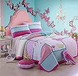 Beddingleer Tagesdecke Baumwolle Bettüberwurf Bettwäsche Set 170x210 cm 2 teilig Klassische Baumwoll-Patchwork Set Gedruckt Vintage Kollektion Handgefertigte Bettwäsche Quilt