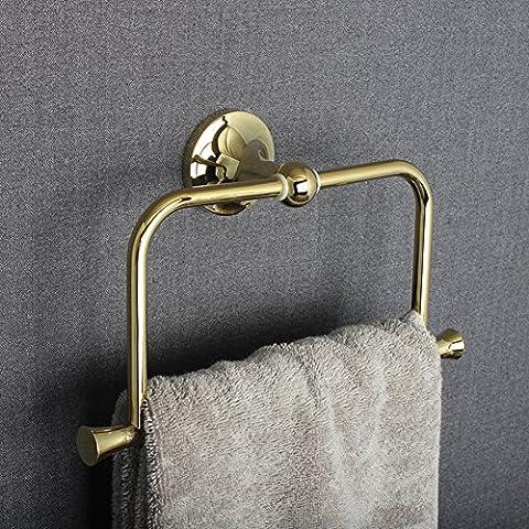 anillo de toalla de baño/anillo de toalla de bronce dorado completa/Espesar con Solid/accesorios de hardware