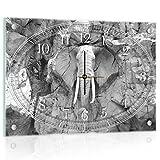 Delester Design cg10116g3elefante reloj de pared de cristal (déco-vitre) cristal, multicolor 60x 40x 4cm)