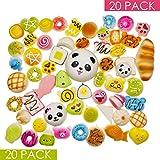 DROPPLEX 20 Stück Squishy Spielzeuge – Zufällige Auswahl - Jumbo Medium Mini – Gemischte Kawaii Squishies - Dekoration & Handy-Anhänger Schlüsselanhänger