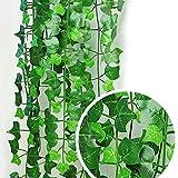 CXZC 1 PC Künstliche Ivy Leaf Garland Pflanzen Gefälschte Laub Blumen Gefälschte Ivy Blätter Grün Girlanden Hängen für Hochzeit Garten Wanddekoration