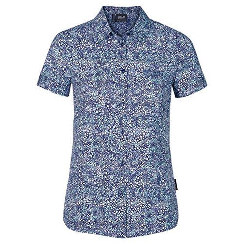 Jack Wolfskin wahia Print T-shirt pour femme Bleu - Bleu