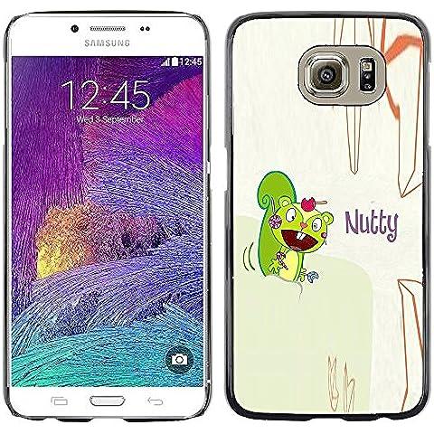 GooooStore/ Dura Custodia Rigida della copertura della cassa - Squirrel Mad Funny Quote Cartoon Drawing - Samsung Galaxy S6 SM-G920