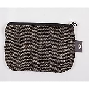 Mittel Schwarz Kulturtasche - Doppellagige 100% Leinen - Leinwand Kosmetiktasche - Natürliche Kosmetik Tasche - Geldbeutel | Handgefertigte durch ThingStore