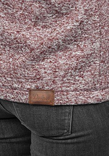 DESIRES Thory Damen Fleecejacke Sweatjacke Jacke Mit Kapuze Und Daumenlöcher, Größe:M, Farbe:Wine Red (0985) - 4