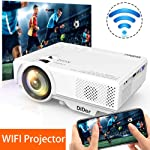 DIDAR Wireless Mini Beamer 3500 Lumen Mini WiFi Projektor, Video Beamer unterstützt Airplay Miracast DLNA und 1080P HD...