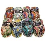 Opal Hundertwasser II-Sockenwolle Set 8x 100g