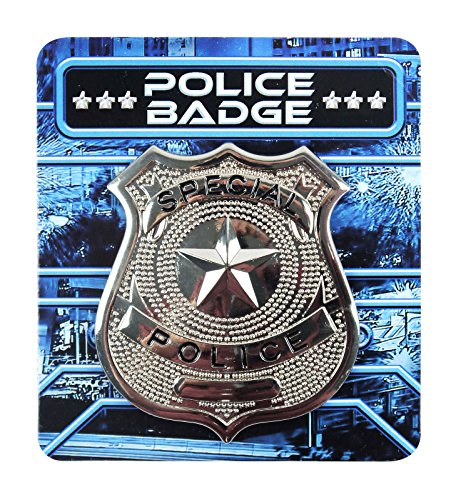 Silver Metal Police Badge Unisex Police costume Fancy Dress Party Favour