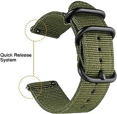 Bainuojia Für Samsung Gear S3 S2 Armband, 20mm Schnellverschluss Woven Nylon Uhrenarmband
