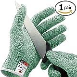 NoCry Schnittschutzhandschuhe - Leistungsfähiger Level 5 Schutz, lebensmittelecht. Größe : XL, 1 Paar, Grün