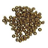 #4: Phenovo 100 Pcs Vintage Pattern Spacer Beads Cone Loose Beads Jewelry DIY Making