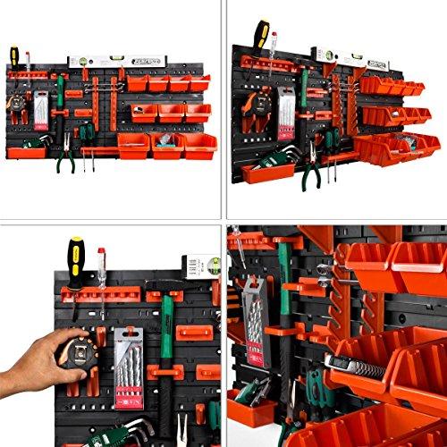 31 tlg Werkstattwandwandregal Stapelboxenregal Regal Stapelboxen Wandmontage