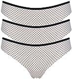 Ex Store keine VPL Brasilianisches Spitze hinten String Gr. Large, 3 Pack Pink & Black Spot