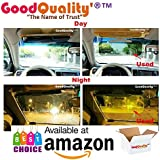 Noctronique 2 In 1 Hd Car Anti-Glare Dazzling Goggle Day Night Vision Driving Mirror Sun Visors
