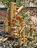 Wilai Bambus Wasserspiel Gartendeko Brunnen Wasserfall für Garten Gartenteich Terrasse Balkon 51 cm hoch Asiatischer Garten
