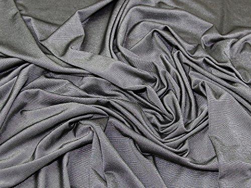 Zwei Ton Slinky Diablo Stretch Jersey Knit Kleid Stoff grau, Pro Meter (Grau Slinky)