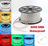 GreenSun Flexible LED Lichtband Streifen Strip Lichterschlauch Stripe Leiste Lichterkette 60 LEDs/M Lichtschlauch wasserdicht (50m, Warmweiß)