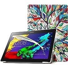 MoKo 5755308 Funda Lenovo Ultra Slim Lightweight Smart-shell con soporte, Multicolor ( Álbo de la Suerte)