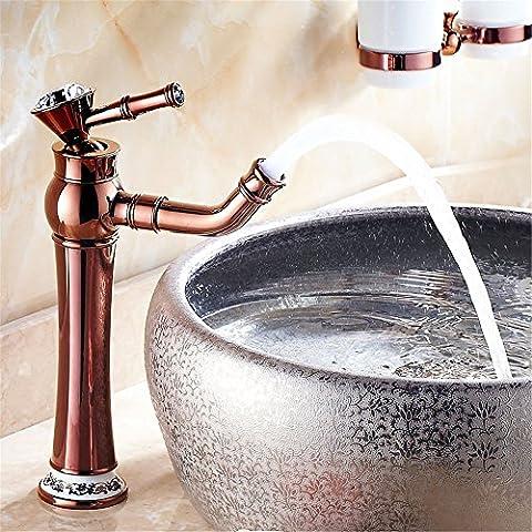 MIAORUI appareils sanitaires et à haute teneur en or rose de type mixte bassin unique robinet robinet