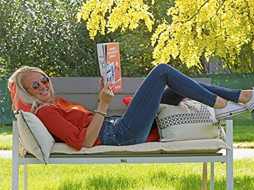 Bellagio Bravo Gartenbank 2 Sitzer 128 cm (Weiß) - 9