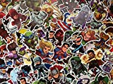 SBS Lot de Stickers Super Héros, Héros Chibi, Enfant, Logo, Personnages Marvel, DC Comics, Avengers, Dessins Animés, (20)
