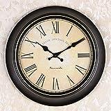 OLILEIOContinental Retro moderne, minimalistische kreative Persönlichkeit Mute Armbanduhr Quarzuhr amerikanische Schlafzimmer Wohnzimmer Uhr Second Hand (14 Zoll, 16-Zoll) 14-Zoll, 16 Kurzwahleinträge